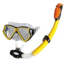 INTEX Silicon Aviator Pro Swim Set - Επαγγελματικό Σετ Μάσκας Και Αναπνευστήρα Από Σιλικόνη 55960 6941057403472