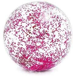 INTEX Transparent Glitter Ball - Διαφανής Μπάλα Θαλάσσης Με Χρυσόσκονη 71Εκ. - Ροζ,  Χρυσό 58070 6941057414171