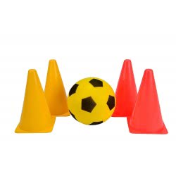 Simba Be Active Football Training Set With Ball And Pylons 5967-0000 8000796059673