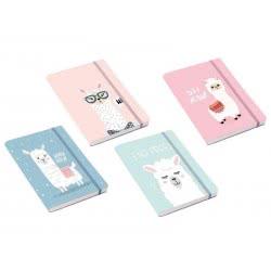 OEM Σημειωματάριο Total Gift Lama A5 Με Λάστιχο - 4 Σχέδια XL1230 8051160414338