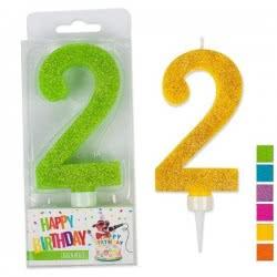 OEM Trend Glitter Candles Maxi No. 2 941985-2 4032722941909
