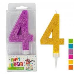 OEM Trend Glitter Candles Maxi No. 4 941985-4 4032722942029