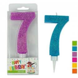 OEM Trend Glitter Candles Maxi No. 7 941985-7 4032722942050