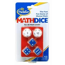 ThinkFun Math Dice Logic Game 001510 019275015107