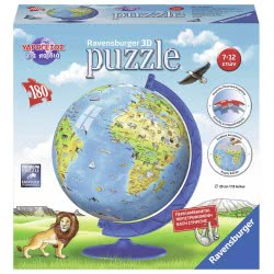 Ravensburger World Globe In English 180 Pieces 12342 4005556123421