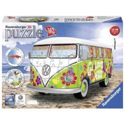 Ravensburger 3D Puzzle VW Bus T1 Hippie 162 Pieces 12532 4005556125326