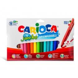 CARIOCA Μαρκαδόροι JUMBO 18 Χρώματα 40566 8003511405663