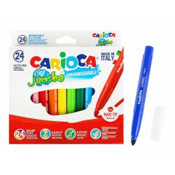 CARIOCA Markers JUMBO 24 Colors 40570 8003511405700
