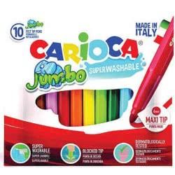 CARIOCA Μαρκαδόροι JUMBO 10 Χρώματα 42926 8003511429263