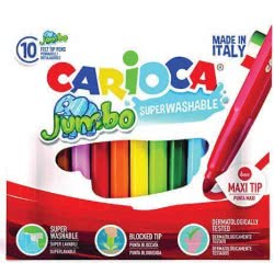 CARIOCA Markers JUMBO 10 Colors 42926 8003511429263