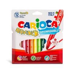 CARIOCA Markers BRAVO 12 Colors 42755 8003511427559