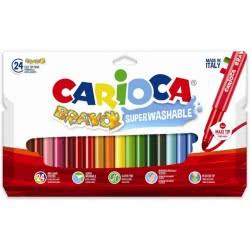 CARIOCA Μαρκαδόροι BRAVO 24 Χρώματα 42763 8003511427634