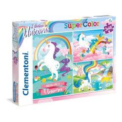 Clementoni Puzzle 3X48 Supercolor I Believe In Unicorns 1200-25231 8005125252312