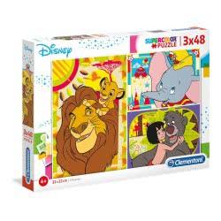 Clementoni Παζλ 3X48 Supercolor Disney Classic 1200-25236 8005125252367
