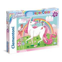 Clementoni Puzzle 104 Τμχ Supercolor I Believe In Unicorns 1210-27109 8005125271092