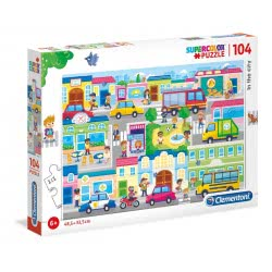 Clementoni Puzzle104 Pieces Supercolor In The City 1210-27114 8005125271146