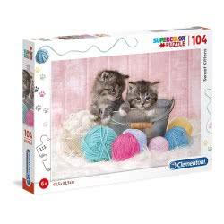 Clementoni Puzzle 104 Pieces Supercolor Sweet Kittens 1210-27115 8005125271153