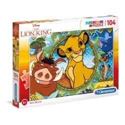 Clementoni Puzzle 104 Pieces Supercolor Disney Lion King 1210-27287 8005125272877