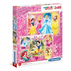 Clementoni Παζλ 2Χ60 Supercolor Disney Princess 1200-07133 8005125071333