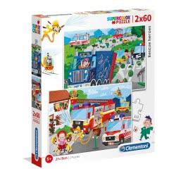 Clementoni Puzzle 2Χ60 Supercolor Rescue Heroes 1200-21602 8005125216024