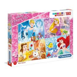 Clementoni Puzzle 180 Supercolor Disney Princess 1210-29294 8005125292943