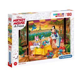 Clementoni Puzzle 180 Supercolor Disney Mickey Mouse And Friends 1210-29296 8005125292967