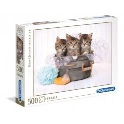 Clementoni Puzzle 500 Pieces H.Q. Kittens And Soap 1220-35065 8005125350650