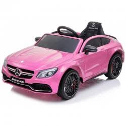 Skorpion Wheels Παιδικό Ηλεκτροκίνητο Αυτοκίνητο Mercedes Benz C63 Original 12Volt - Ροζ 5246063P 6995552460638