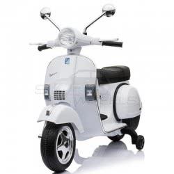 Skorpion Wheels Kids Electric Motorcycle Vespa Piaggio Original 12V - White 5245050W 6995552450509