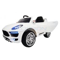 Skorpion Wheels Kids Electric Car Porsche Macan Style 12V Με R-C - White 5246045 5201670395952