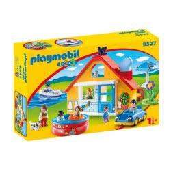 Playmobil 1.2.3 Εξοχικό Σπίτι Με Βάρκα Και Αυτοκίνητο 9527 4008789095275