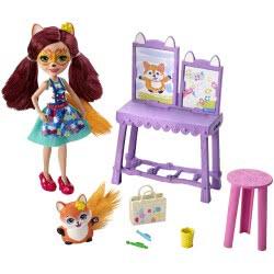 Mattel Enchantimals Στούντιο Ζωγραφικής - Κούκλα Και Ζωάκι Φιλαράκι Με Αξεσουάρ FCC62 / GBX03 887961723281