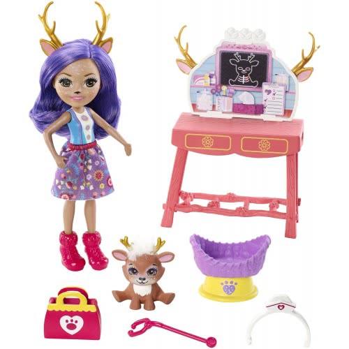 37ea96114eb Mattel Enchantimals Caring Vet Doctor Playset With Accessories, Danessa  Deer FCC62 / GBX04 887961723274