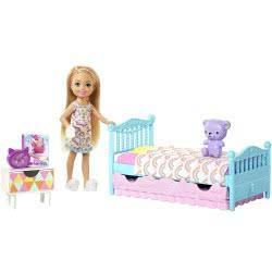 Mattel Barbie Club Κούκλα Chelsea Και Παιδικό Κρεβάτι Με Αξεσουάρ FDB32 / FXG83 887961691054