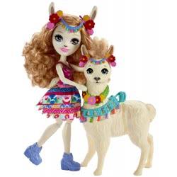 Mattel Enchantimals - Llama Κούκλα Και Μεγάλο Ζωάκι Φιλαράκι FKY72 / FRH42 887961625684