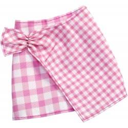 Mattel Barbie Fashions Φούστα Καρό Ροζ FPH22 / FXH89 887961691993