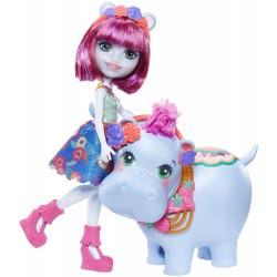 Mattel Enchantimals - Lake Doll And Hedda Hippo Friend Animal FKY72 / GFN56 887961766615