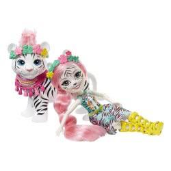 Mattel Enchantimals - Kitty Κούκλα Και Tadley Tiger Ζωάκι Φιλαράκι FKY72 / GFN57 887961766622