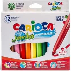 CARIOCA Markers JUMBO 12 Colors 40569 8003511405694