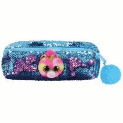 ty Fashion Sequin Plush Pencil Case Unicorn Pink Fantasia 1607-95854 008421958542
