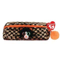 ty Fashion Sequin Plush Pencil Case Cat Shadow Black And Orange 1607-95853 008421958535