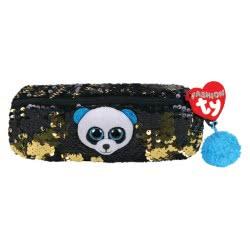 ty Fashion Sequin Plush Pencil Case Panda Bamboo 1607-95855 008421958559
