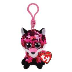 ty Flippables Jewel Sequin Pink Fox Clip Plush 8,5Cm 1607-35303 008421353033