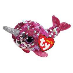 Teeny Tys Μικρό Χνουδωτό Sequin Φάλαινα Μονόκερος 4,5 Εκ. 1607-42403 008421424030