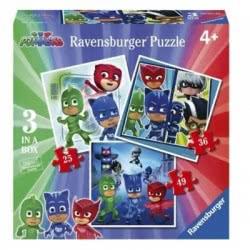 Ravensburger Παζλ 3 Σε 1 PJ Masks - Πιτζαμοήρωες 06998 4005556069989