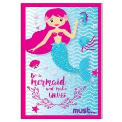 MUST Kids Notebook Mermaid And Llama 17X24 Cm - 2 Designs 000579502 5205698422324