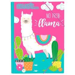 MUST No Prob Llama Φάκελος Λάστιχο Χαρτονέ Λάμα 25X35 000579498 5205698422386