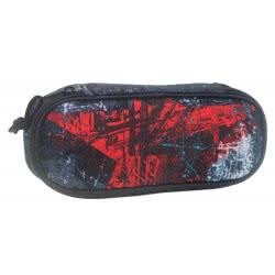 Diakakis imports Mood Pencil Case Star Red 000580215 5205698445941