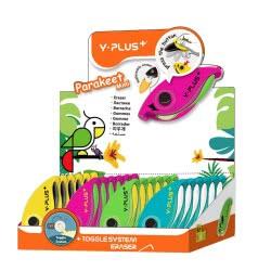 Diakakis imports Y-PLUS Toggle System Eraser Σβήστρα - 4 Χρώματα 000089171 4711678077725