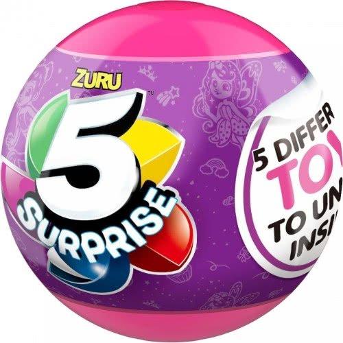 ZURU 5 Surprise Μπάλα Με 5 Εκπλήξεις Σειρά 2 - Ροζ 11807702 845218019952
